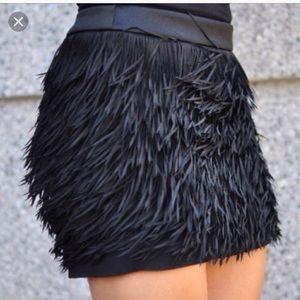 New Express chiffon fringe mini skirt